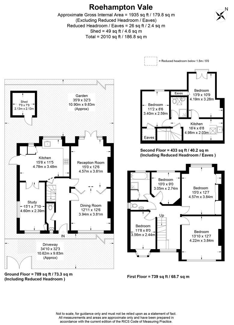 Floorplan for Roehampton Vale, Putney, SW15